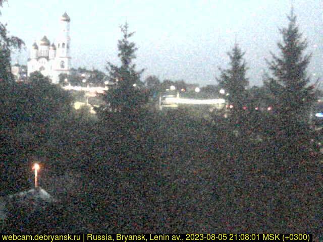Брянск, Веб камера онлайн проспект Ленина и Кафедральный Собор